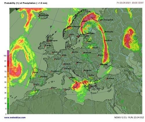 Weather heat maps