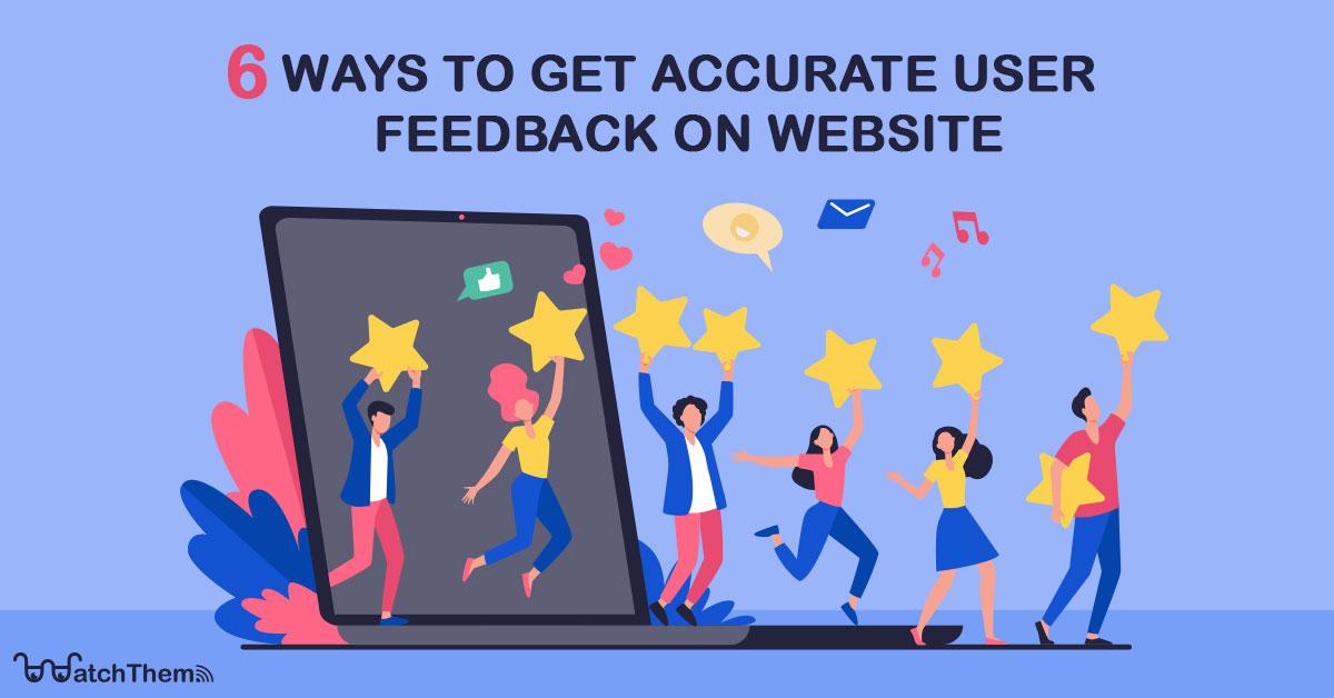 get user feedback on website