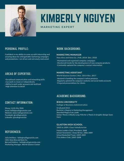 proximity on a resume design