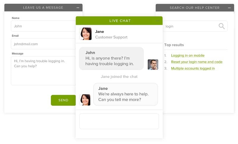 get user feedback on website with live chat
