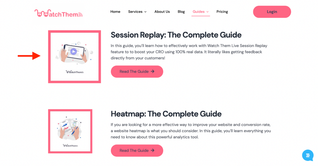 Watch Them live guides for heatmaps